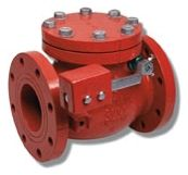 """3"""", Flanged x Flanged, Fusion Bonded Epoxy Coated Cast Iron, Swing, Check Valve"""