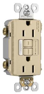 pas 1597-NTLTRI (CC4) PAS SELF TEST GFCI REC/NLIGHT TR 15A 125V IV
