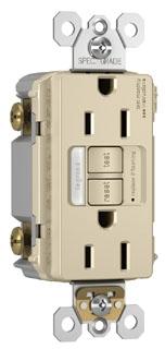 PAS 1597-NTLTRLA (CC4) PAS SELF TEST GFCI REC/NLIGHT TR 15A 125V LA
