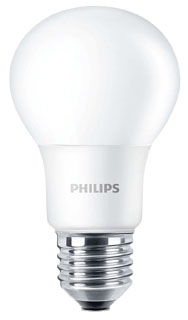 PHI 45560-0 PHI 8A19 8W 5000K A19 MED BASE LED LAMP NON-DIMMABLE