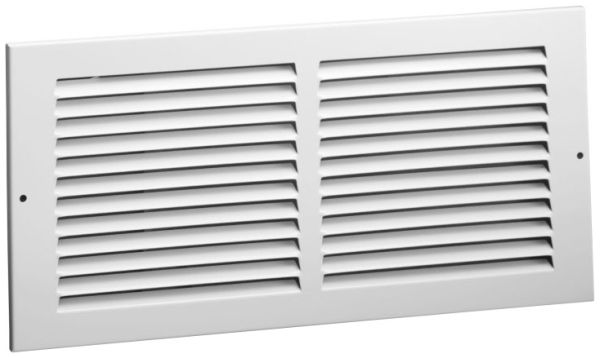"""19.5"""" x 29.9"""", Bright White, Enameled Steel, Return Air, Duct Grille"""