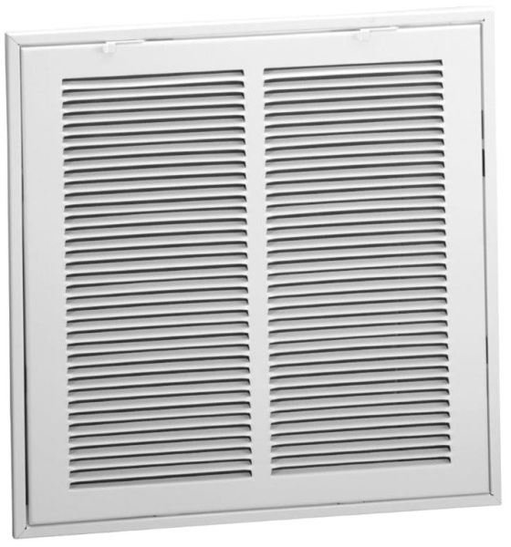 """23.9375"""" x 13.9375"""", Bright White, Enameled Steel, Return Air Filter, Duct Grille"""