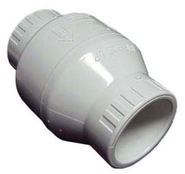 "1"", Socket x Socket, Injection Molded PVC, Horizontal/Vertical Swing, Check Valve"