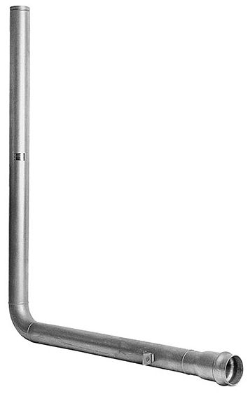 """4-1/2"""" x 6' x 6', Lead-Free, 304 Stainless Steel, 1-Piece, Flanged, 90D, In-Building Riser"""