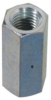 "3/8"" x 1-1/8"", Plain, Carbon Steel, Straight, Rod Coupling"