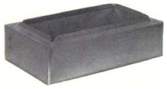 """12"""" x 8"""", Top Outlet, Steel Frame, Register/Insulated, Ductboard Wall Box"""