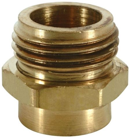 "1/2"" x 3/4"", FPT x MHT, Lead-Free, Rough, Brass, 1-Piece Male Increasing Adapter"