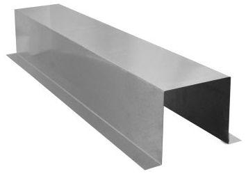 "3"" x 4"" x 3"" x 10"", 26 Gauge, Galvanized Steel, Duct Refrigerant Line Set Cover W/Cap"