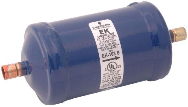 "3.14"" x 9.32"", 20 Micron, Epoxy Powder Painted, Steel, Air Conditioner Liquid Line Filter Drier"