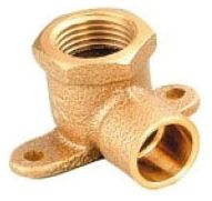"1/2"" x 1/2"", Compression x FPT, Lead-Free, Cast Brass, 90D, Drop Ear Elbow"