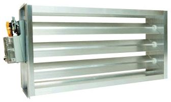 "16"" x 16"", 24 V, Extruded Aluminum, Rectangle/Low Leakage/Heavy Duty Frame, Air Zone Control Damper"