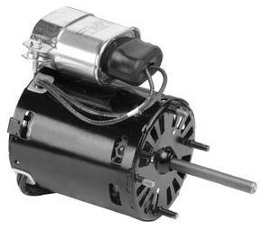 208 to 230 V, 0.5 A, 1/12 HP, 1550 RPM, 1-Speed, Open Vent, Refrigeration Fan Motor