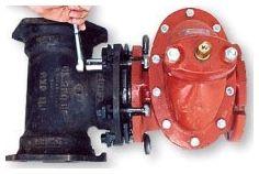 "3"", Ductile Iron, Bolt-Through Ultra Compact Mechanical Joint Restraint Foster Adapter"