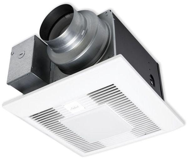 "120 VAC, 110 CFM, 0.4 Scones, 4"" Duct, 7 W GU24 LED, 26 Gauge Galvanized Steel, Ceiling Mount Ventilation Fan and Light"