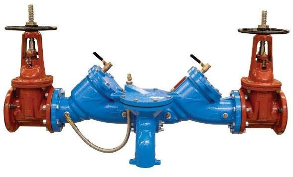 """2-1/2"""", Flanged x Flanged, Lead-Free, Epoxy Coated Cast Iron/Cast Copper Silicon Alloy, Reduced Pressure Zone Assembly, Backflow Preventer"""