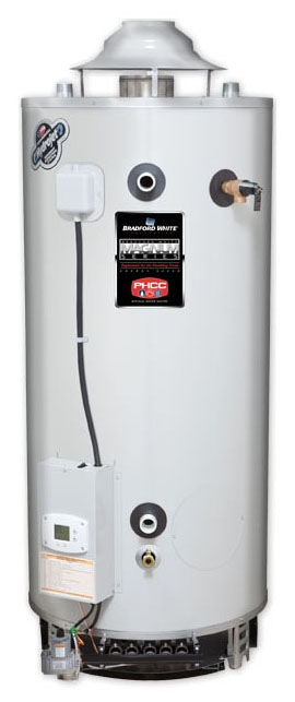 """D-75T-125-3N 75 GAL NG 5"""" FLUE 125000 BTU GAS WATER HTR. WITH T&P"""