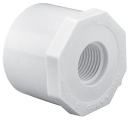 5922000 PVC 2in X 1/2in RED BUSHING SPIG FPT