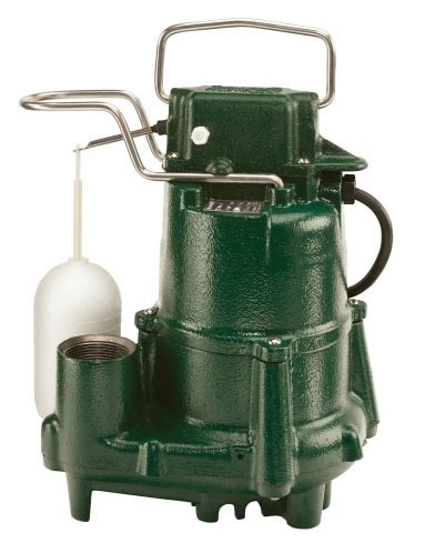 "98-0002 N98 ZOELLER 1/2HP SUMP PUMP CAST IRON 1-1/2"" DISCHARGE CAPACITY 64GPM @ 15 TDH"