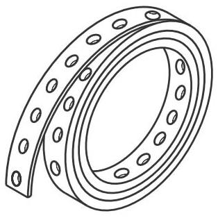 2140551 3/4in X 10ft 24GA GALV PERF STRAP