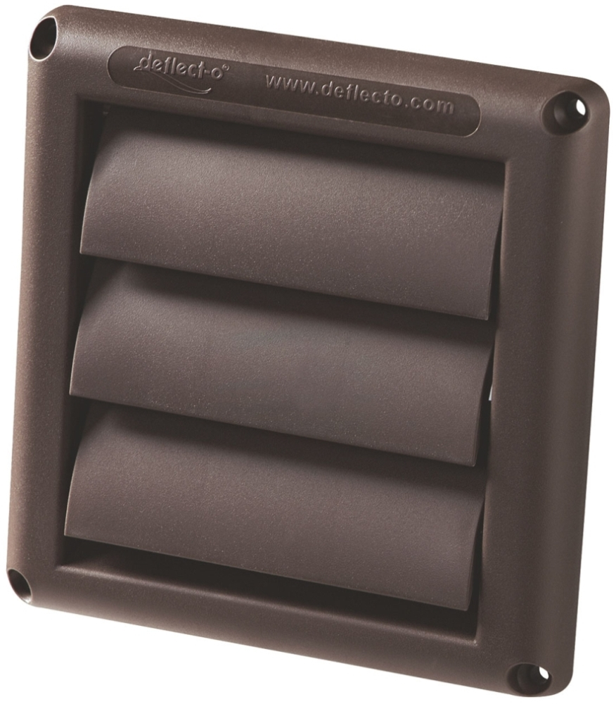 7831085 HS-6B 6in BRN LOUVER VENT HOOD ONLY