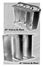 5012910 13300 2in 22GA VANE RAIL 10ft