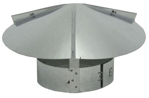 7817309 CT12 12in RAIN CAPS GALV