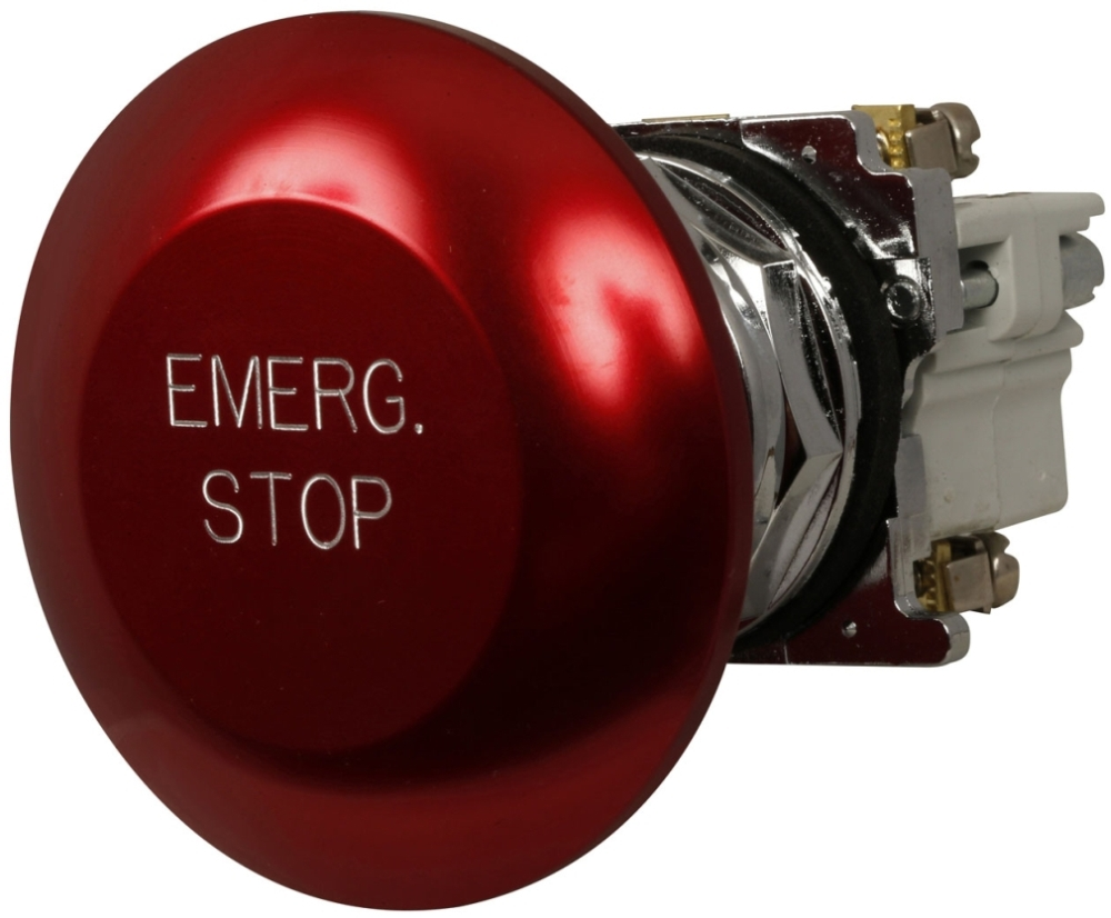 C-H 10250T33-POP 65MM RED EMERGENCY STOP JUMBO MUSHROOM MOMENTARY