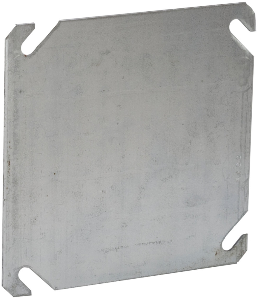 RACO 752 4IN SQ FLAT BLANK COVER