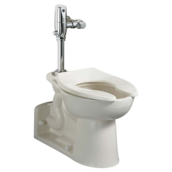 "14"" x 29-5/8"" x 16-1/2"", 1.1 to 1.6 GPF, Rear Outlet, White, Vitreous China, Floor Mount, Elongated Bowl, Top Spud, Toilet"