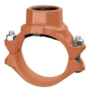 "4"" x 3/4"", FPT, Galvanized Ductile Iron, Single Outlet, Tee, Clamp-T"