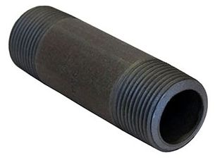 """1-1/2"""" x 1-1/2"""" x 3-1/2"""", MPT x MPT, Black, Seamless Steel, 80S, Extra Heavy, Straight Nipple"""