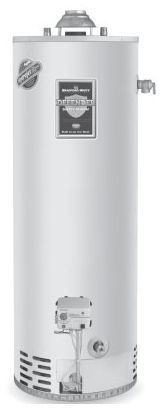 50 Gallon, 34000 BTU/HR, Atmospheric Vent, Engineered Enameled Vitraglas Lined, Steel Surface, Natural Gas, Tall, Residential Gas Water Heater