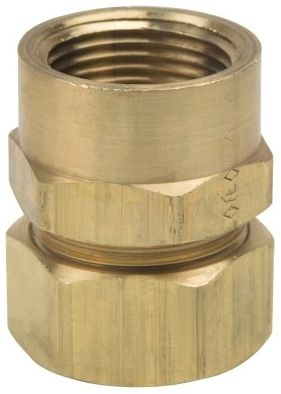 """7/8"""" x 3/4"""", Compression x FPT, Rough Brass, Female, Reducing Adapter"""