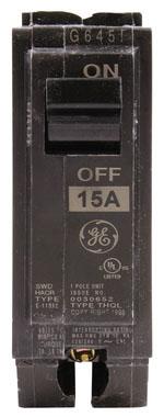 GE THQL1115 1P 15AMP CIRC BREAKER