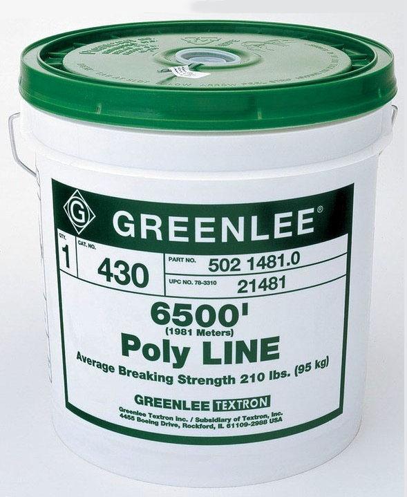 Greenlee 200lb Pull String 6500ft Bucket