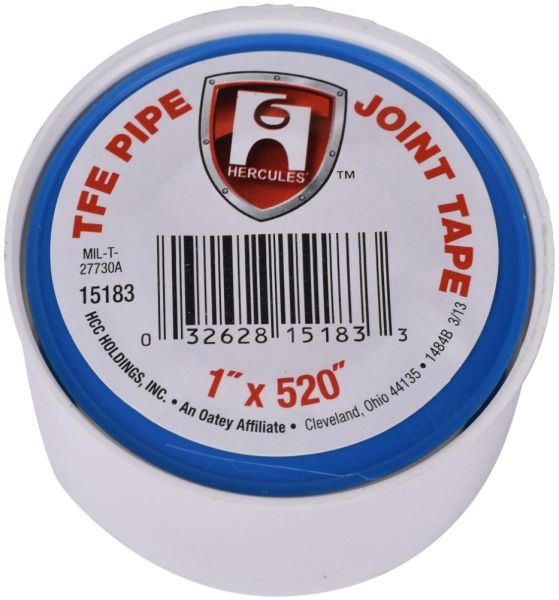 """520"""" x 1"""" x 3 Mil, White, PTFE, Pipe Joint Tape"""