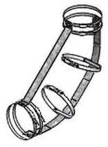 "4"", DWV, 1/8 Bend, 45D, No Hub, Pipe Fitting Restraint Kit"