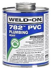 1 Gallon, Can, Gray, PVC, Heavy, Weld On® 782™ Solvent Cement