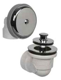 Venetian Bronze, PVC, Push and Lift Stopper, 1-Hole, Bath Waste and Overflow Half Kit
