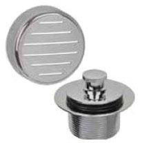 Satin Nickel, Brass, Toe Operated Stopper, Bath Waste and Overflow Finish Kit