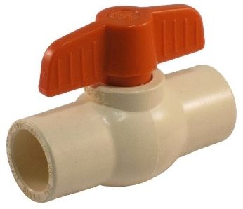 "1"", Solvent x Solvent, CPVC, 150 PSI, 1/4 Turn, Ball Valve"