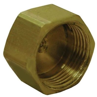 "3/8"", FPT, Brass, Hex Head Compression Cap"