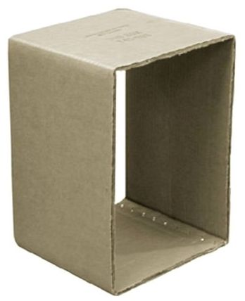 "14-1/2"" x 11-5/16"" x 6"", Wax Coated, Cardboard Tub Box"