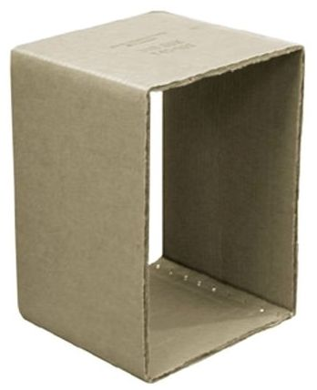 "12"" x 12"" x 12"", Non-Coated, Cardboard Tub Box"