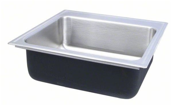"""22"""" x 22"""" x 7-1/2"""", Polished, 18 Gauge Seamless 304 Stainless Steel, 3-Hole, Top Mount, Rectangle in Square, Single Bowl, Drop-In, Kitchen Sink"""