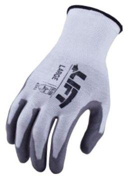 Gray, Polyurethane, M, Gloves