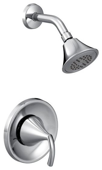 """3-3/4"""" Head, 1.75 GPM, Chrome Plated, Pressure Balancing, Wall Mount, Shower Trim Kit"""