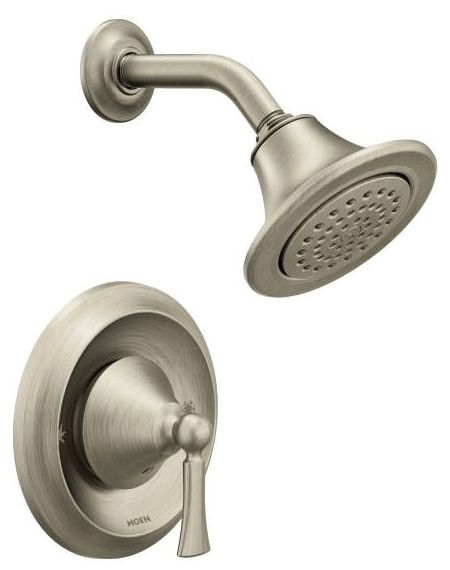 "5-1/8"" Head, 1.75 GPM, Brushed Nickel, Pressure Balancing, Wall Mount, Shower Trim Kit"