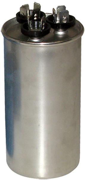 "2.5"" x 4.375"", 440 VAC, 55/5 Microfarad, Aluminum, Round, Dual Section, Motor Run Capacitor"