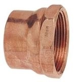 """1-1/4"""" x 1-1/4"""", Soldered Cup x FPT, Wrot Copper Alloy, DWV, Female, Straight Adapter"""